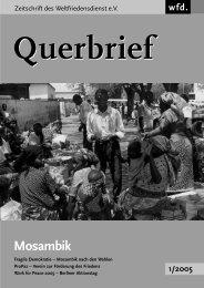 Querbrief Nr. 1/2005 - Mosambik - Weltfriedensdienst e.V.
