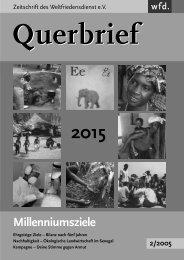 Querbrief Nr. 2/2005 - Millenniumsziele - Weltfriedensdienst e.V.