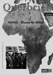 NEPAD – Chance für Afrika? - Weltfriedensdienst e.V.