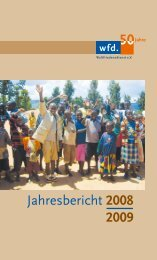 Jahresbericht 2008 2009 - Weltfriedensdienst e.V.