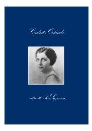 Carlotta Orlando: ritratto di Signora - Firenze