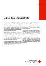 La Croce Rossa Svizzera: ritratto