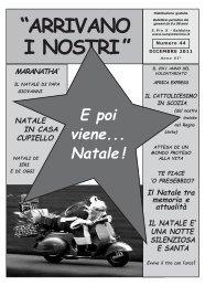 """""""ARRIVANO I NOSTRI"""" - Parrocchia S. Pio X"""