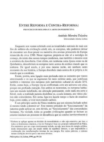 ENTRE REFORMA E CONTRA-REFORMA - Centro de Filosofia da ...