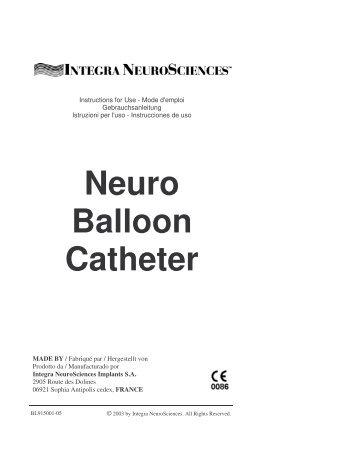 Neuro Balloon Catheter - Integra LifeSciences