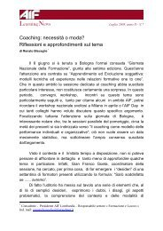 Renato Bisceglie Coaching: necessità o moda? - Aif