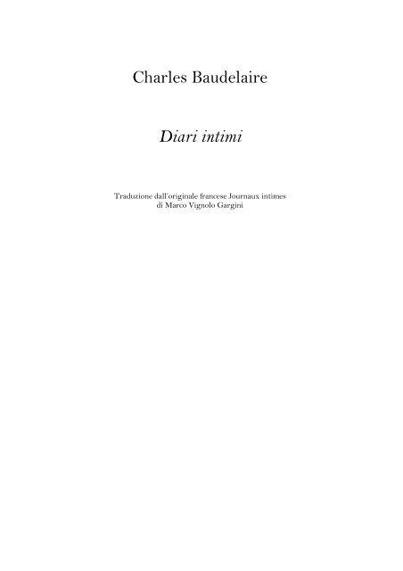 Baudelaire Diari Intimi Pdf Emoglobina Lab