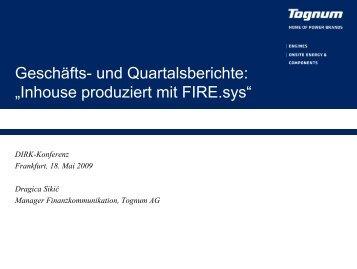 """Geschäfts- und Quartalsberichte: """"Inhouse produziert mit FIRE.sys"""""""