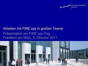 Wünsche, die durch FIRE.work im Jahr 2011 erfüllt werden - FIRE.sys