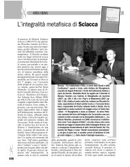 L'integralità metafisica di Sciacca - Edizioni Ares