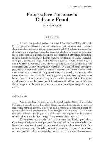Fotografare l'inconscio: Galton e Freud - enrico pozzi