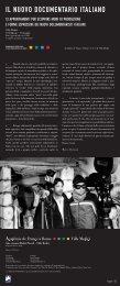 Il nuovo documentario italiano - brochure - Home Movies