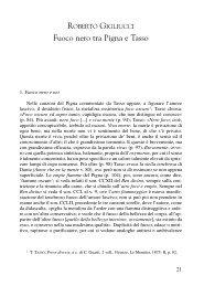 Fuoco nero tra Pigna e Tasso - Italianistica e Spettacolo