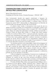 Considerações sobre a noção de imitação em Paolo ... - Unicamp