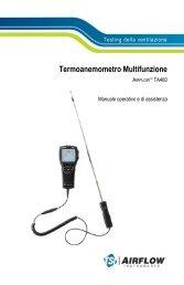 Testing della ventilazione Termoanemometro Multifunzione ... - TSI