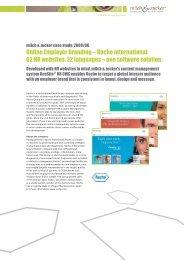 BeeSite HR CMS® – Roche Case Study - Milch & Zucker AG