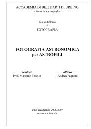 Tipi di fotografie astronomiche - Andrea Pagnoni