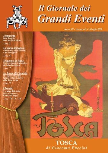 TOSCA - Il giornale dei Grandi Eventi
