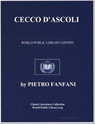 CECCO D'ASCOLI - World eBook Library