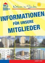 Informationen für unsere Mitglieder September 2009 - WG Einheit