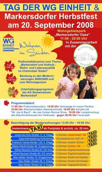 Markersdorfer Herbstfest - WG Einheit