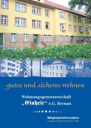 """Einheit"" e.G. Bernau - WG Einheit Bernau"