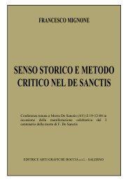 Francesco Mignone Senso storico e metodo critico nel De Sanctis