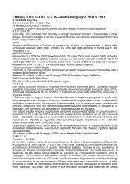 CONSIGLIO DI STATO, SEZ. IV - sentenza 8 giugno 2009 ... - Infocds.it