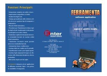 Funzioni Principali: - Enter Srl