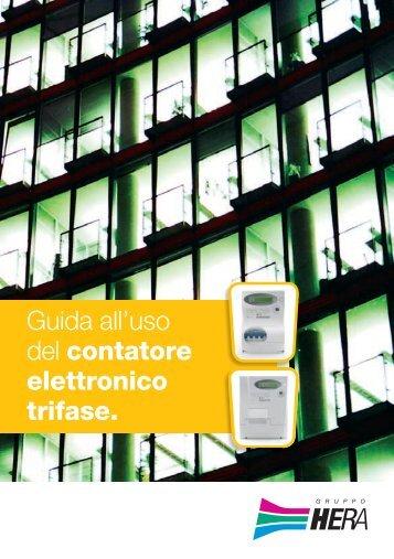 Guida all'uso del contatore elettronico trifase. - Il Gruppo Hera