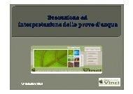 Pozzi per Acqua Vinci - Ordine dei Geologi del Lazio