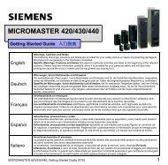 MICROMASTER 420/430/440 - Siemens AS