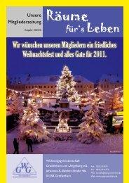 Ausgabe 10/2010 - Wohnungsgenossenschaft Großenhain und ...
