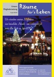 Ausgabe 08/2009 - Wohnungsgenossenschaft Großenhain und ...