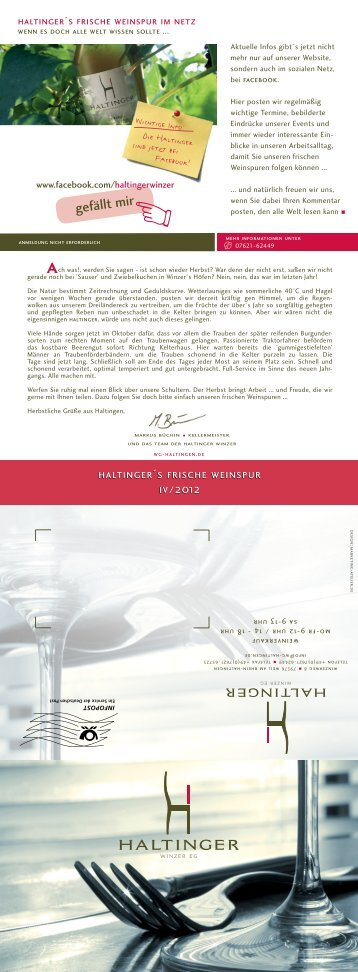 PDF der neuesten Weinspur - WG Haltingen