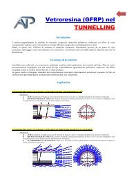 Vetroresina (GFRP) nel TUNNELLING - ATP home page