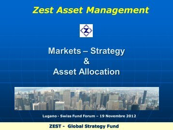 Markets – Strategy & Asset Allocation - Lugano Fund Forum