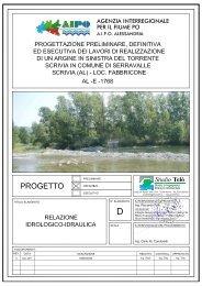 Relazione geologico-Idraulica - Valutazione Ambientale