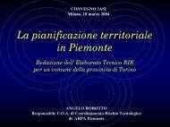 La pianificazione territoriale in Piemonte - Ministero delle ...