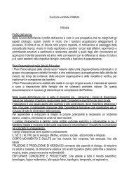 Bozza CURRICOLO VERTICALE D'ISTITUTO - Ragazzi del fiume