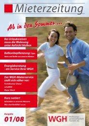 Ab in den Sommer ... - WGH - Wohnungsgenossenschaft Hameln eG