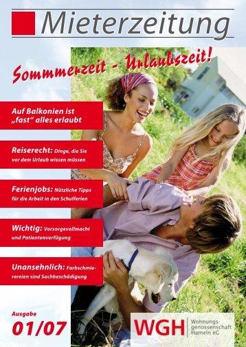 Sommmerzeit - Urlaubszeit! - WGH - Wohnungsgenossenschaft ...