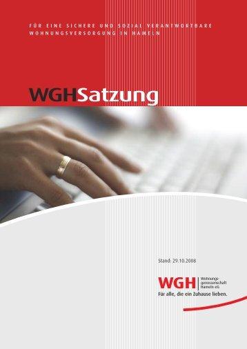 Download PDF (500 KB) - WGH - Wohnungsgenossenschaft ...