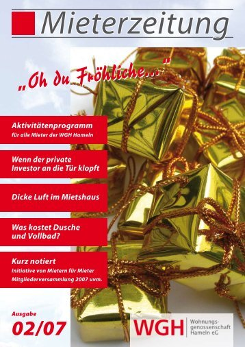"""""""Oh du Fröhliche..."""" - WGH - Wohnungsgenossenschaft Hameln eG"""