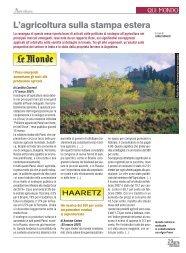 L'agricoltura sulla stampa estera ( PDF - 112 kB ) - Ermes Agricoltura