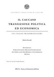 il caucaso transizione politica ed economica - UniCA Eprints