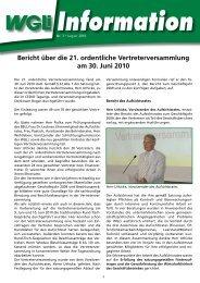 WGLi-Info 3-2010 - WGLi Wohnungsgenossenschaft Lichtenberg eG