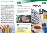 Flyer Spartipps für den Haushalt - WGLi Wohnungsgenossenschaft ...