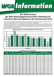 Info 2/2010 Wahlergebnisse - WGLi Wohnungsgenossenschaft ...
