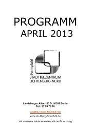 PROGRAMM - WGLi Wohnungsgenossenschaft Lichtenberg eG